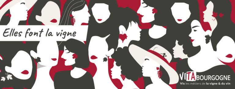 Les femmes dans la vigne et le vin.